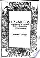 HEXAMERON Magni Basilij