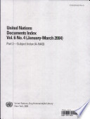 United Nations Documents Index book