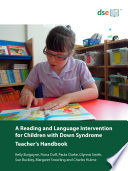 A Reading and Language Intervention for Children with Down Syndrome   Teacher   s Handbook