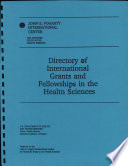 Directory Of International Grants And Fellowships In The Health Sciences book