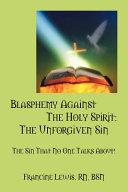 Blasphemy Against the Holy Spirit Book PDF