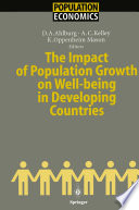The Impact of Population Growth on Well being in Developing Countries