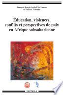 ducation  violences  conflits et perspectives de paix en Afrique subsaharienne
