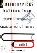 České hudebniny a gramofonové desky