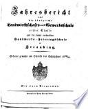 Jahresbericht über die Königliche Landwirthschafts- und Gewerbsschule Erster Classe und die damit verbundene Handwerks-Feiertagsschule