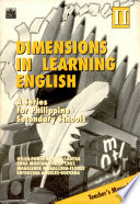 Dimensions in Learning English Ii Tm