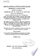 Los Sacrosantos Concilios generales y particulares