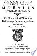 Caramuelis Theologia moralis fundamentalis