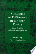 Strategies of Difference in Modern Poetry