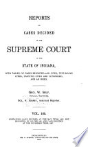 Reports of Cases Decided in the Supreme Court of the State of Indiana