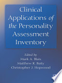 Clinical Applications Of The Personality Assessment Inventory