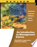 An Introduction to Management Science  Quantitative Approaches to Decision Making  Revised