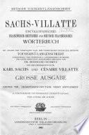 Sachs Villatte Enzyklop  disches Franz  sisch Deutsches und Deutsch Franz  sisches W  rterbuch
