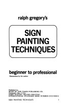 Ralph Gregory s sign painting techniques