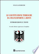 Le costituzioni tedesche da Francoforte a Bonn