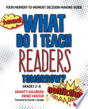 What Do I Teach Readers Tomorrow  Nonfiction  Grades 3 8