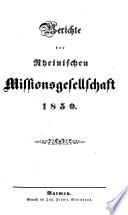 Berichte der Rheinischen Missionsgesellschaft