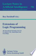 Extensions of Logic Programming