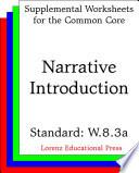 Narrative Introduction  CCSS W 8 3a