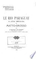 Le Rio Paraguay   l   tat br  silien de Matto Grosso