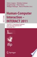 Human Computer Interaction    INTERACT 2011