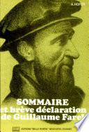 illustration du livre Sommaire et brève déclaration