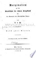 Marginalien zu den grundsätzen der höhern kriegskunst ...