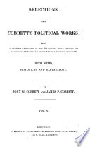 Selections from Cobbett's Political Works