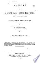 Manual of Social Science