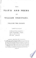 The Plays and Poems of William Shakspeare  Twelfth night  Winter s tale  Macbeth  King John