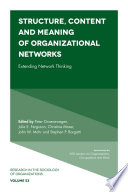 Structure  Content and Meaning of Organizational Networks