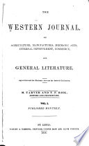 The Western Journal Of Agriculture Manufactures Mechanic Arts Internal Improvement Commerce And General Literature