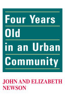Four Years Old in an Urban Community Book