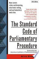 The Standard Code of Parliamentary Procedure  4th Edition