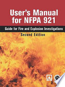 User s Manual for Nfpa 921