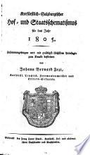 Kurfürstlich-salzburgischer Hof- und Staatsschematismus