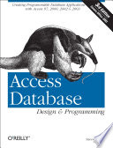 Access Database Design Programming book
