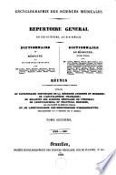 Encyclographie des sciences m  dicales  R  pertoire g  n  ral de ces sciences  au XIXe si  cle