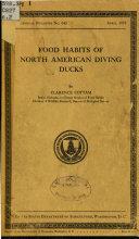Book Food Habits of North American Diving Ducks