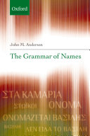 The Grammar Of Names book