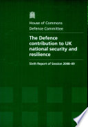 Defence Contribution to UK National Security and Resilience
