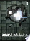 Contemporary Anarchist Studies Book PDF