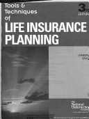 Tools   Techniques of Life Insurance Planning
