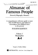 Almanac of Famous People  Biographies A I