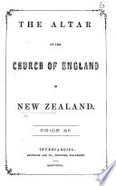 The Altar of the Church of England in New Zealand