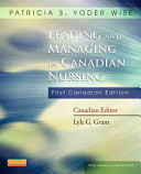 Leading and Managing in Canadian Nursing