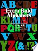Extra bold Alphabets