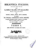 Biblioteca Italiana,o sia notizia de libri rari italiana
