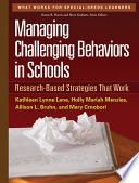 Managing Challenging Behaviors in Schools