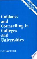 Guidance And Counselling In Colleges And Universities